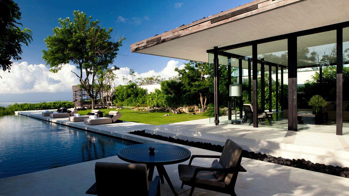 modern villa with pool-alila villas uluwatu bali