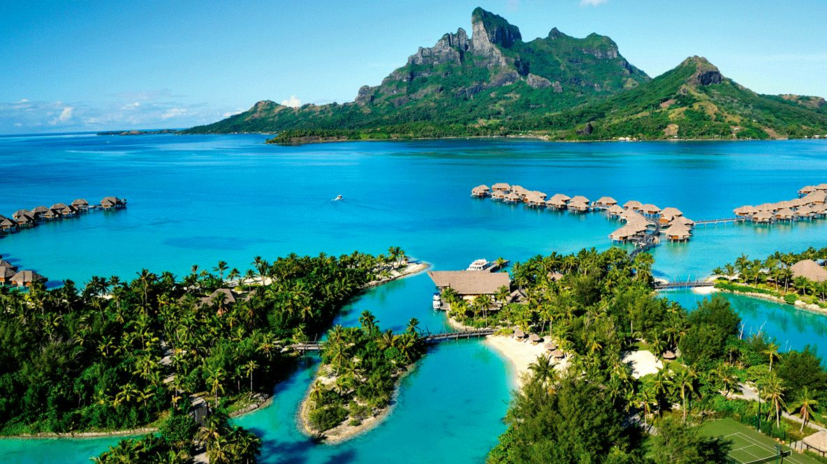 overview island-four seasons resort bora bora