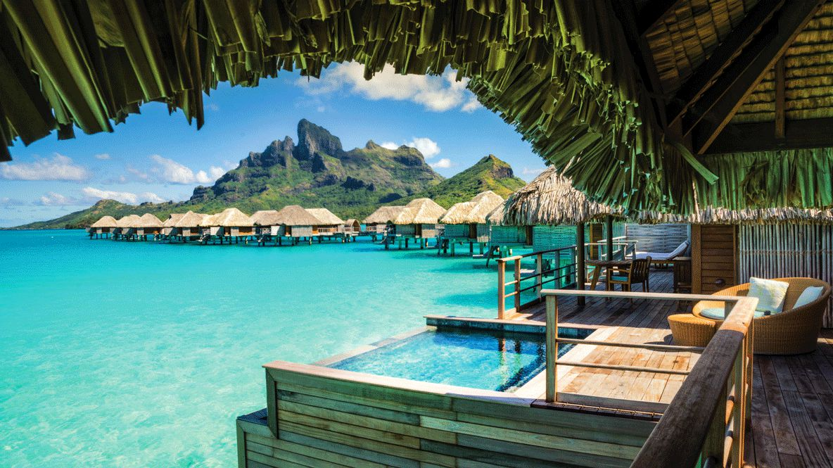 private infinity pool ocean-four seasons resort bora bora