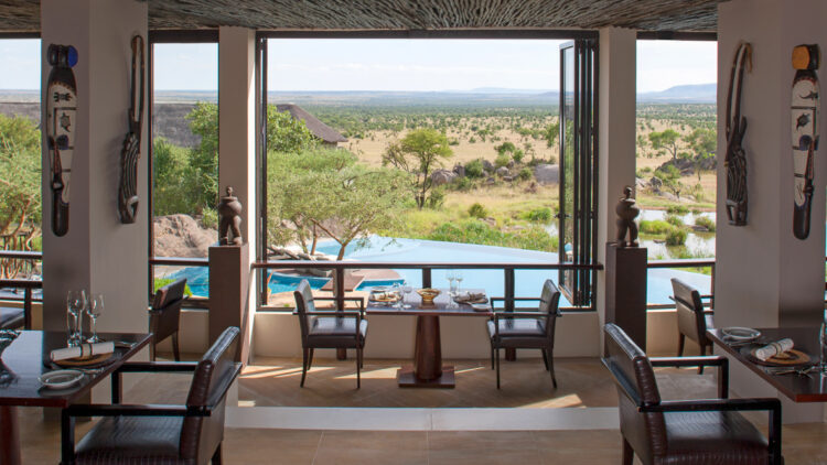 hotels in heaven four seasons safari lodge serengeti location pool veld view charis tables dinner room art