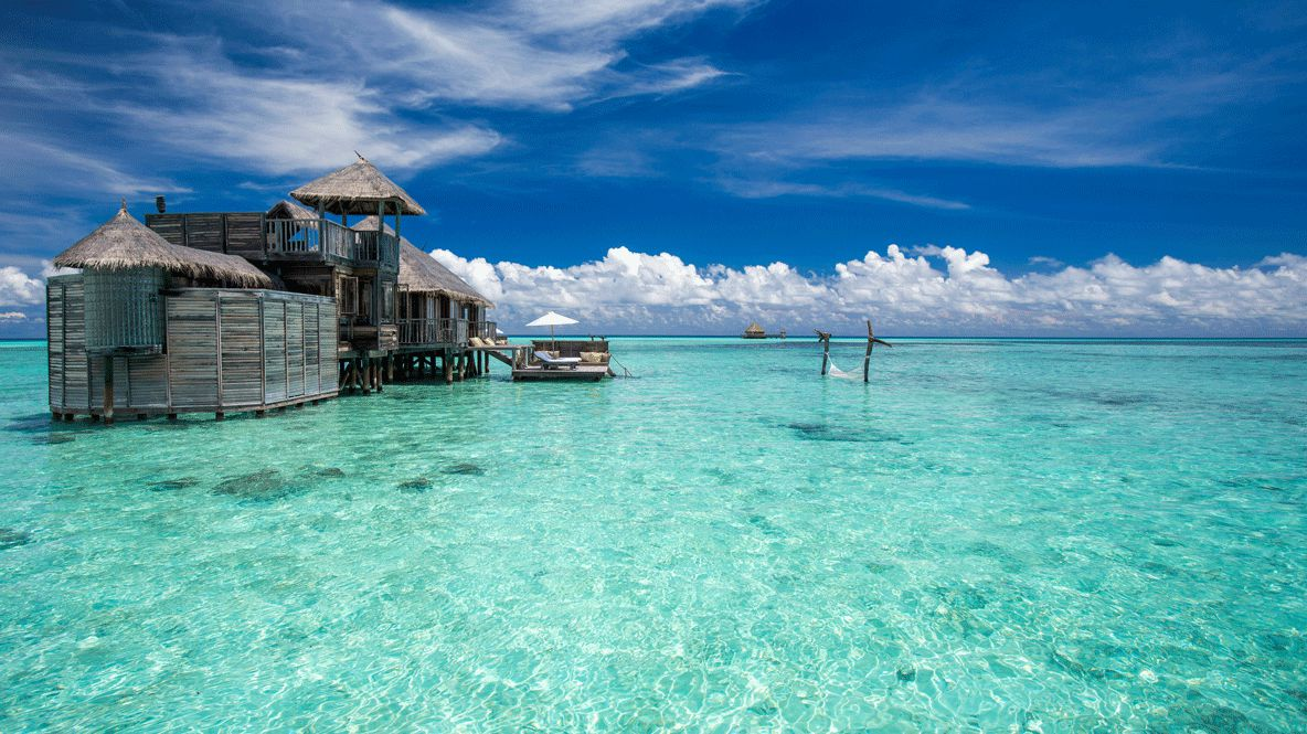 hotels in heaven gili lankanfushi maldives oceanview bungalow accommodation side view water swimming island