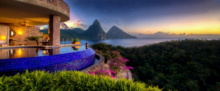 pool view-jade mountain st. lucia