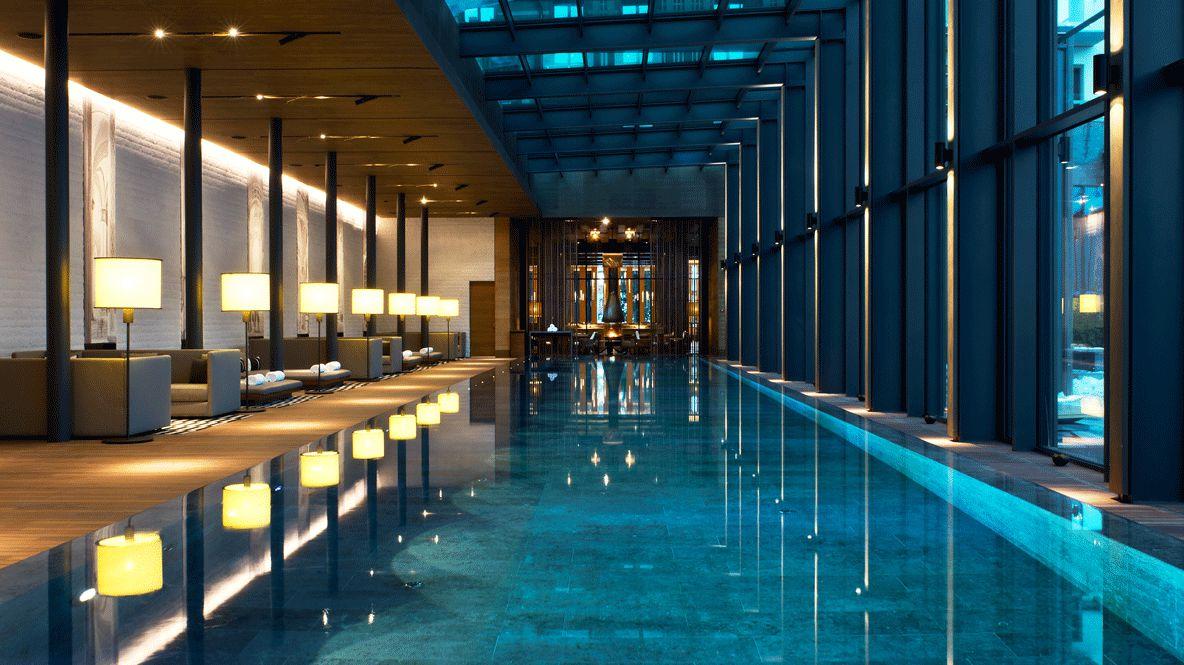 heated indoor pool-the chedi andermatt switzerland