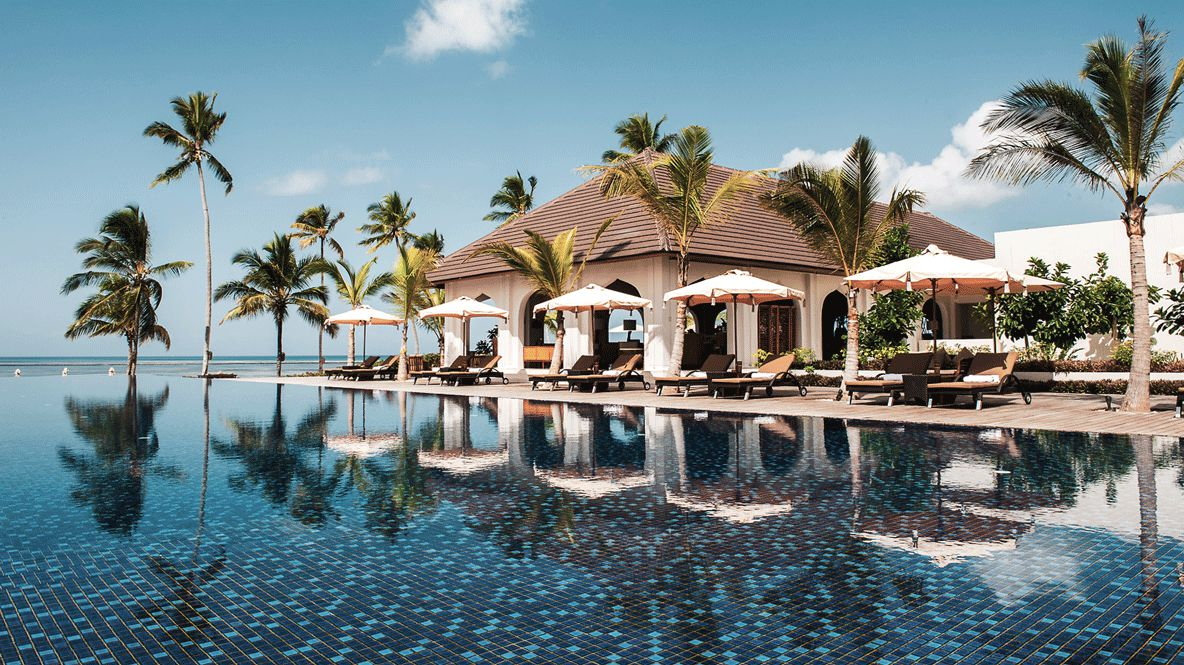sunbed pool-the residence zanzibar