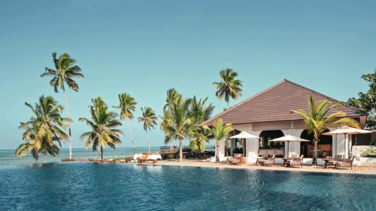 infinity pool palm trees-infinity pool-the residence zanzibar