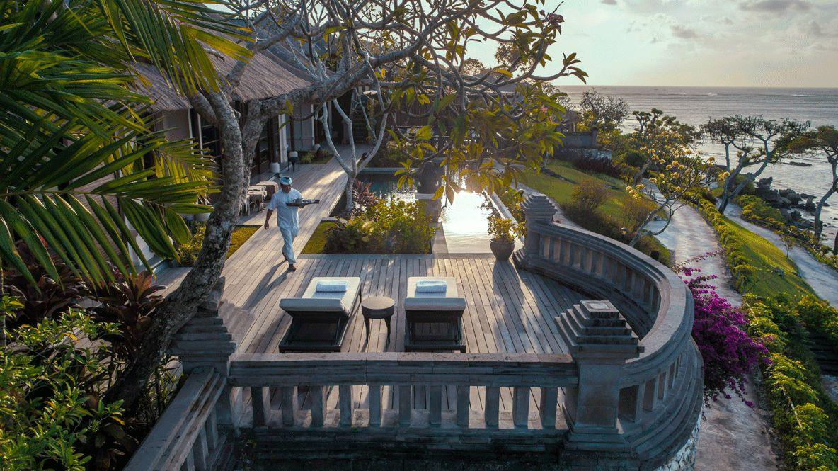 pool view ocean-four seasons resort bali jimbaran bay