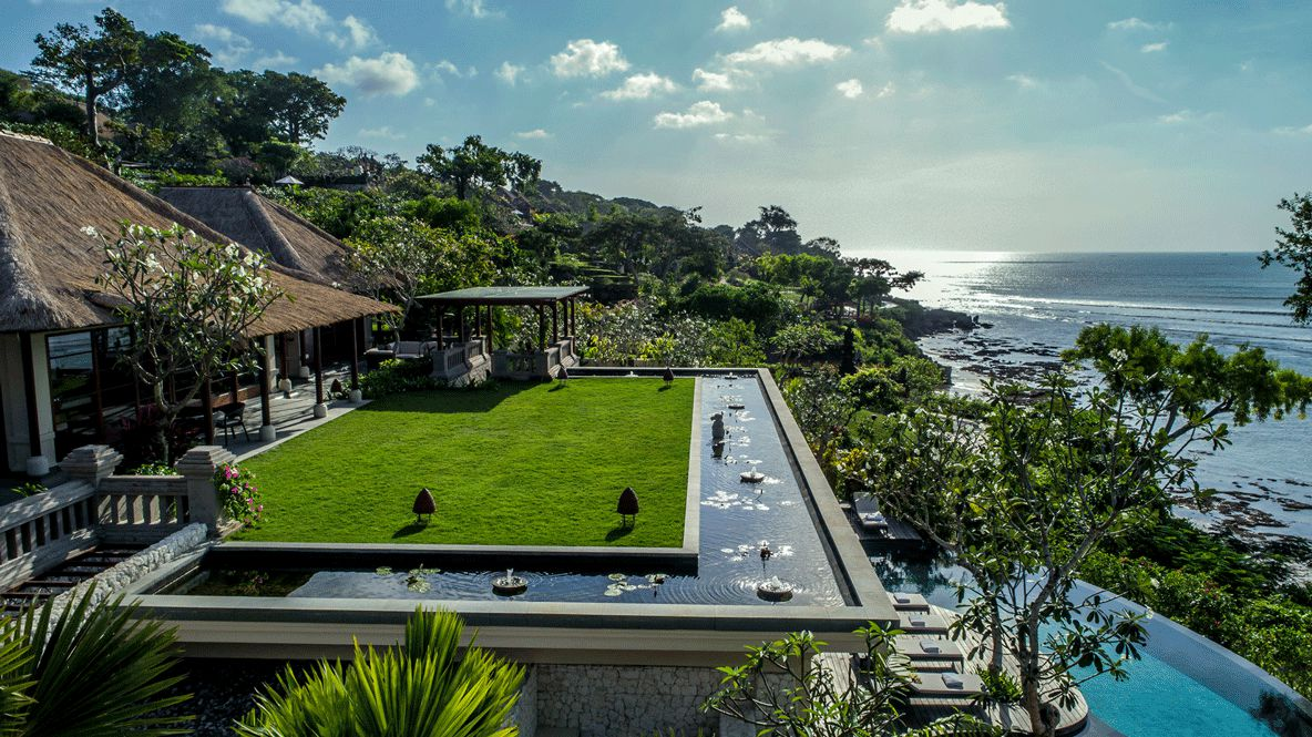 outdoor view pool pond-four seasons resort bali jimbaran bay