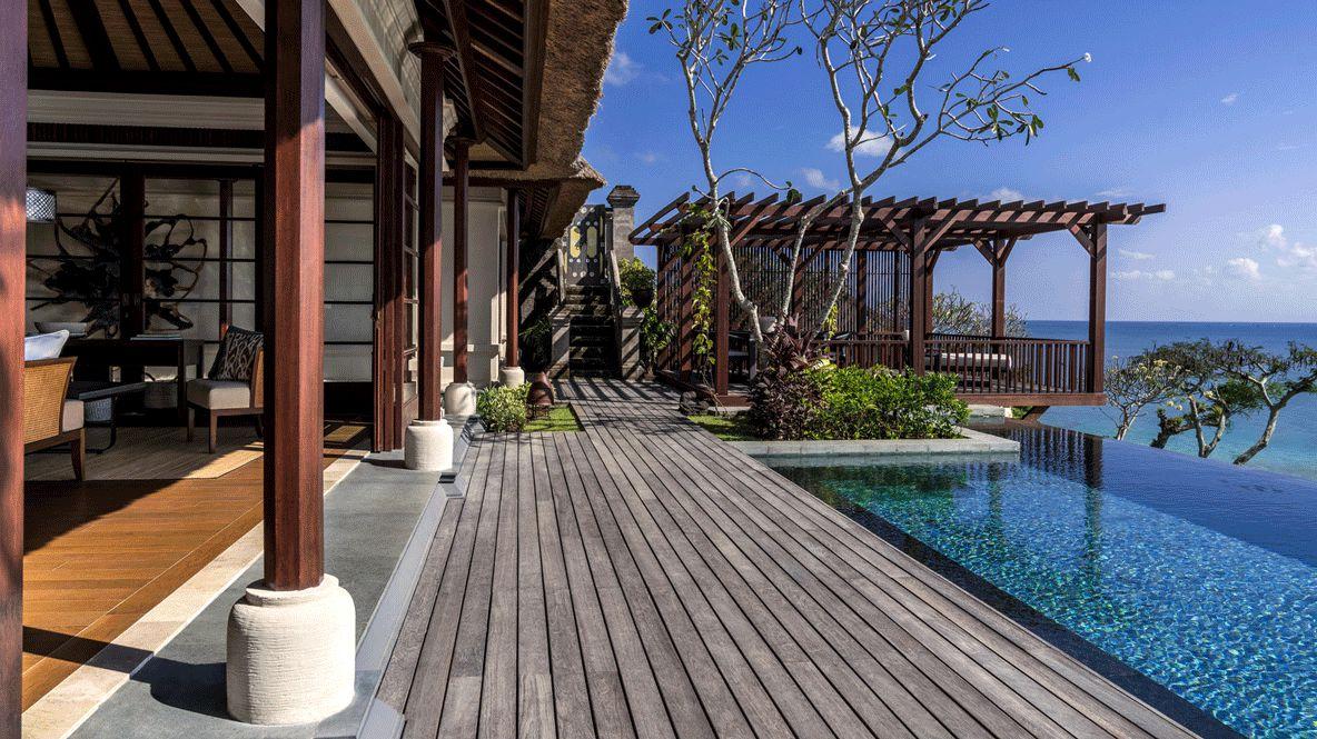 terrace with pool-four seasons resort bali jimbaran bay