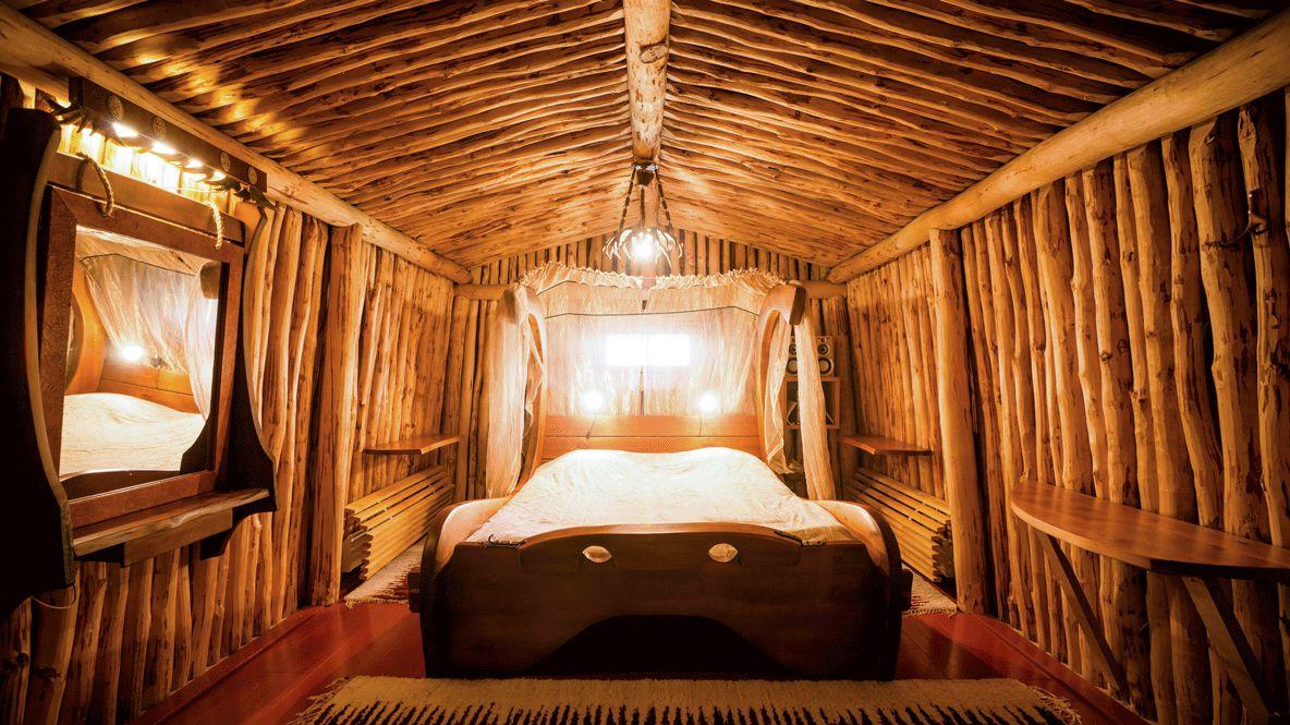 cozy warm bedroom-kakslauttanen artic resort