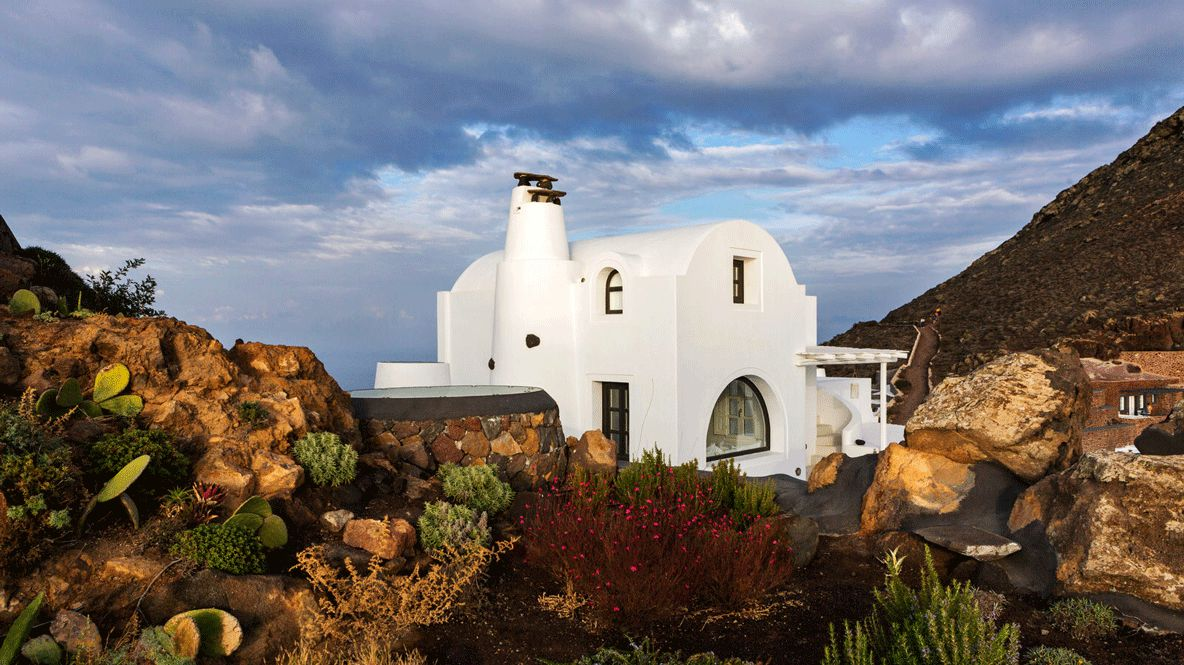 hotels in heaven aenaon villas backyard flat house villa sky white house plants landscape colorful