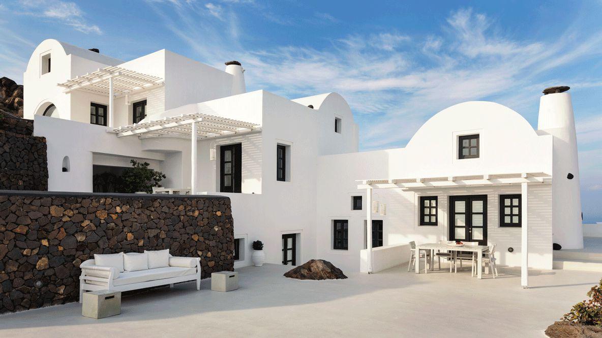 outdoor area-aenaon villas greece