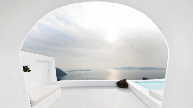 terrace pool-aenaon villas greece