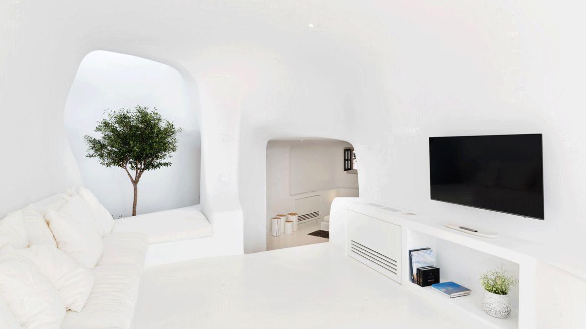 villa charissa living room-aenaon villas greece
