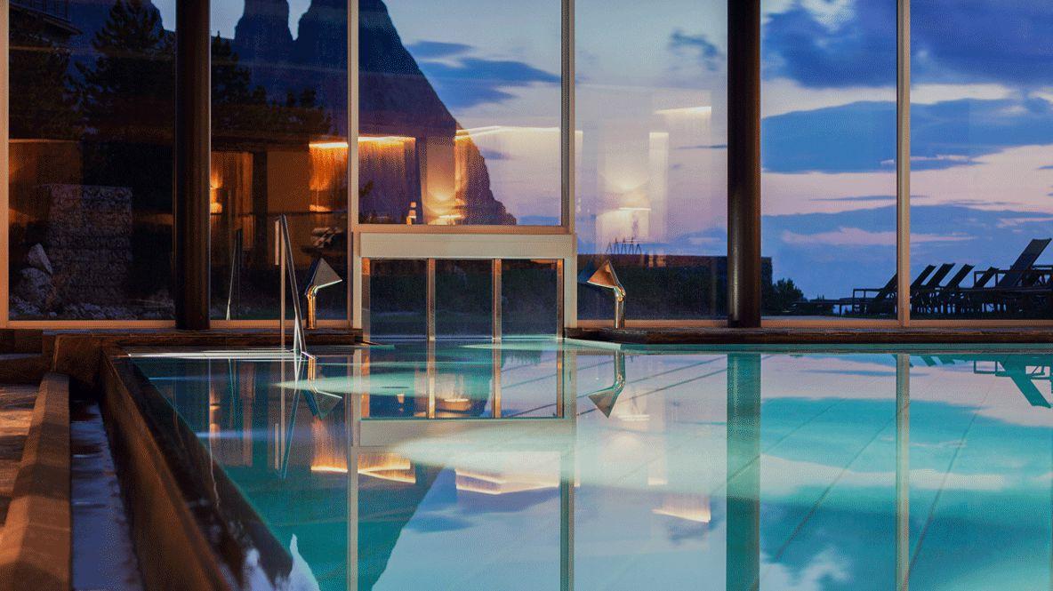 indoor pool spa-alpina dolomites lodge italy
