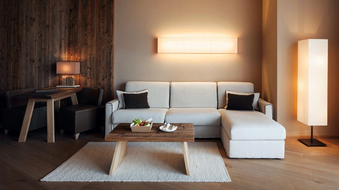 modern living room-alpina dolomites lodge italy