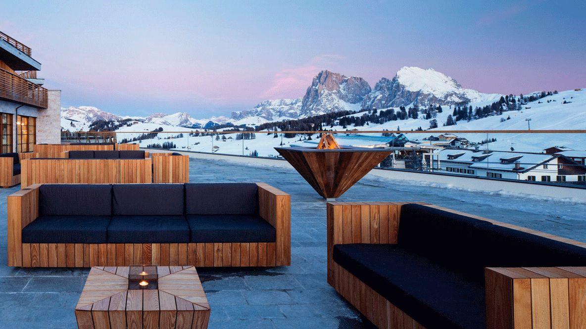 rooftop exterior-alpina dolomites lodge italy