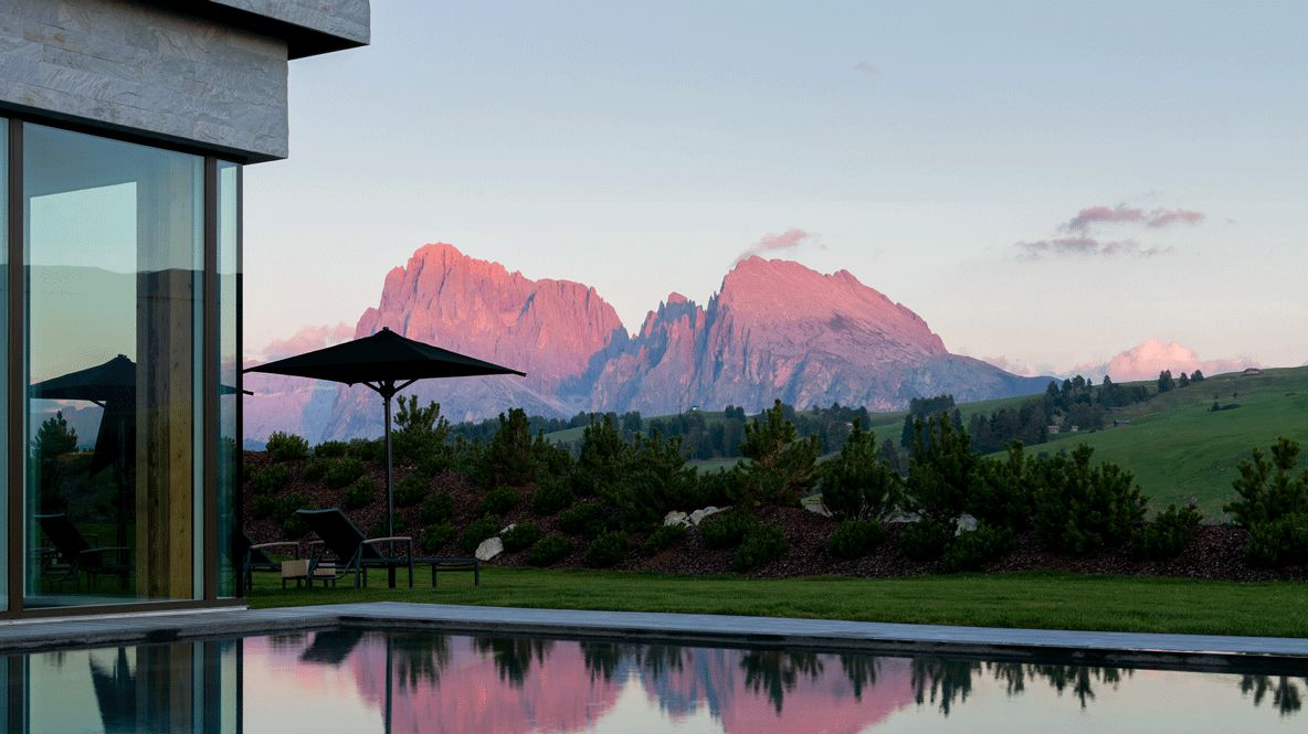 heated outdoor pool-alpina dolomites lodge