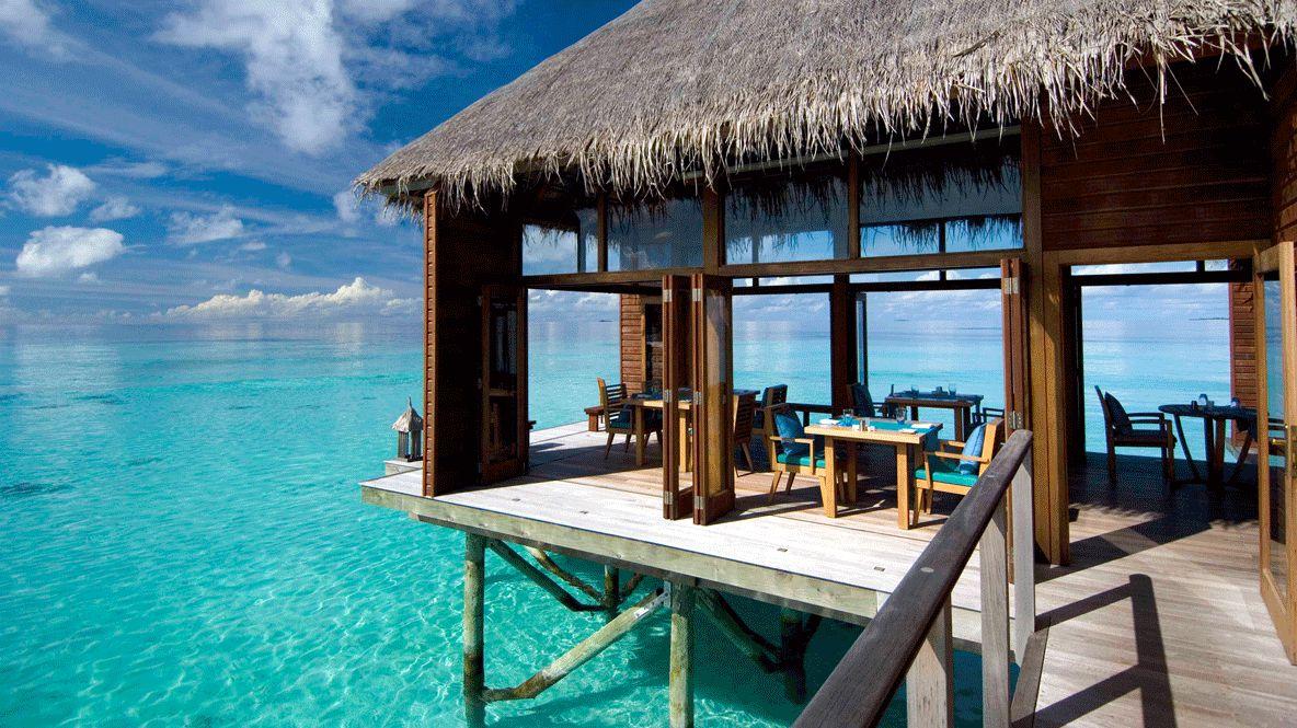 restaurant over water-conrad maldives rangali island