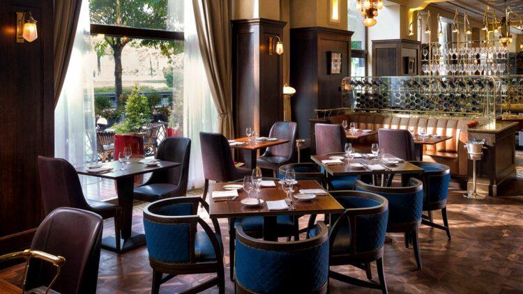 hotels in heaven four seasons budapest culinary restaurant brown black lights modern window food