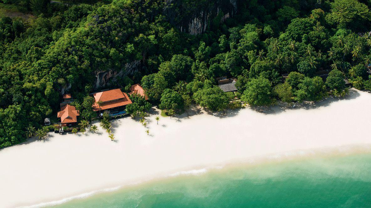 drone view hotel-four seasons langkawi