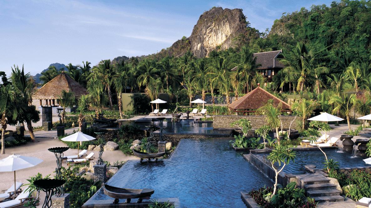 pool area mountain view-four seasons langkawi