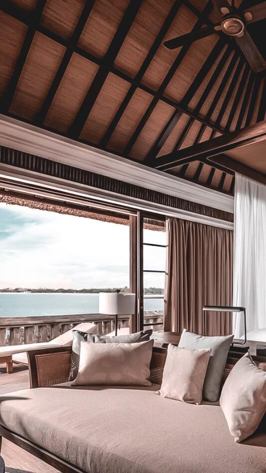 living room ocean view-four seasons resort bali jimbaran bay