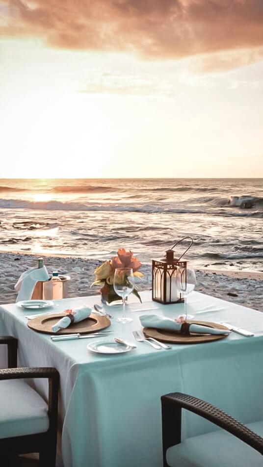 private romantic dinner-four seasons resort hualalai hawaii