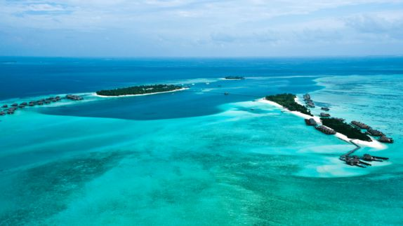hotels in heaven conrad maldives rangali view location overview birdeye view sea water ocean islands blue deep sea