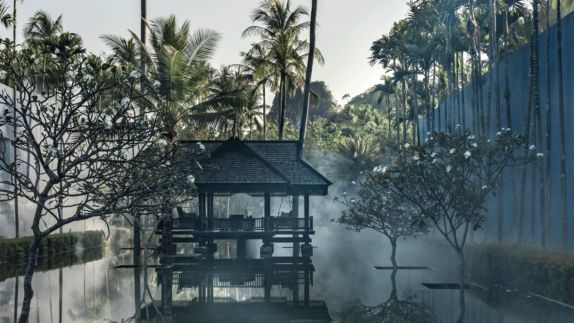 hotels in heaven four seasons langkawi outdoor accommodation location fog water palm trees bushes trees little shack