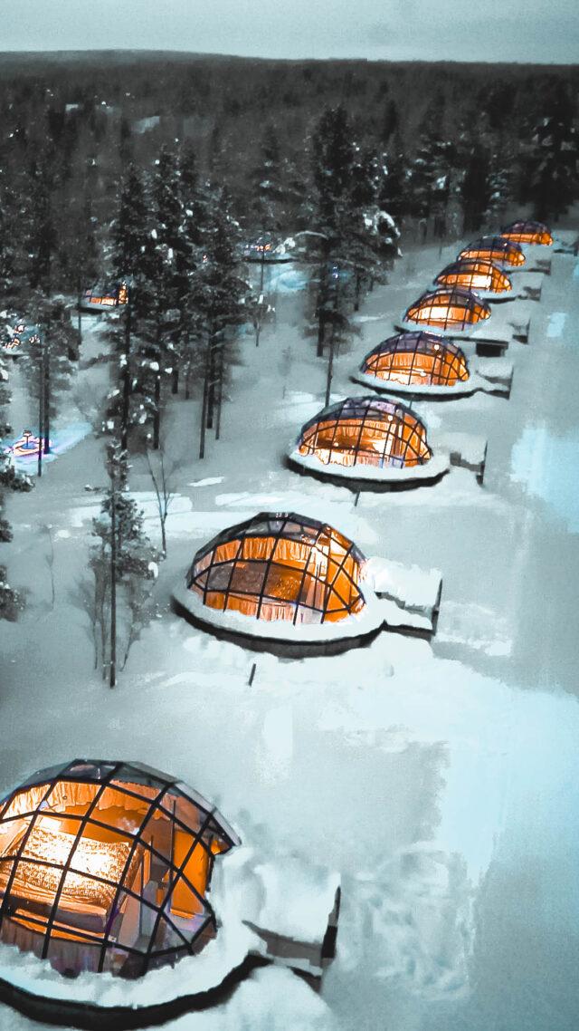 overview igloos-kakslauttanen artic resort