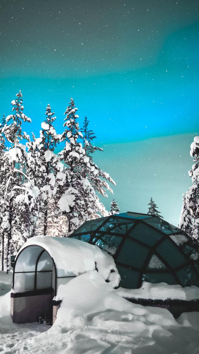 igloo snow-kakslauttanen artic resort