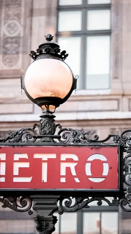 classic metro sign-mandarin oriental paris