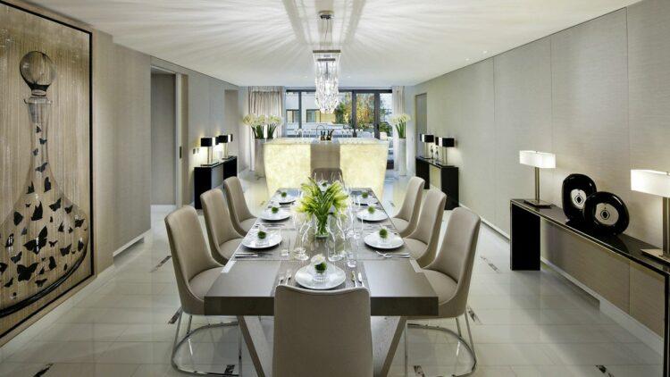 hotels in heaven mandarin oriental paris suite mandarin royale suite table chair luxury modern white beige lamp