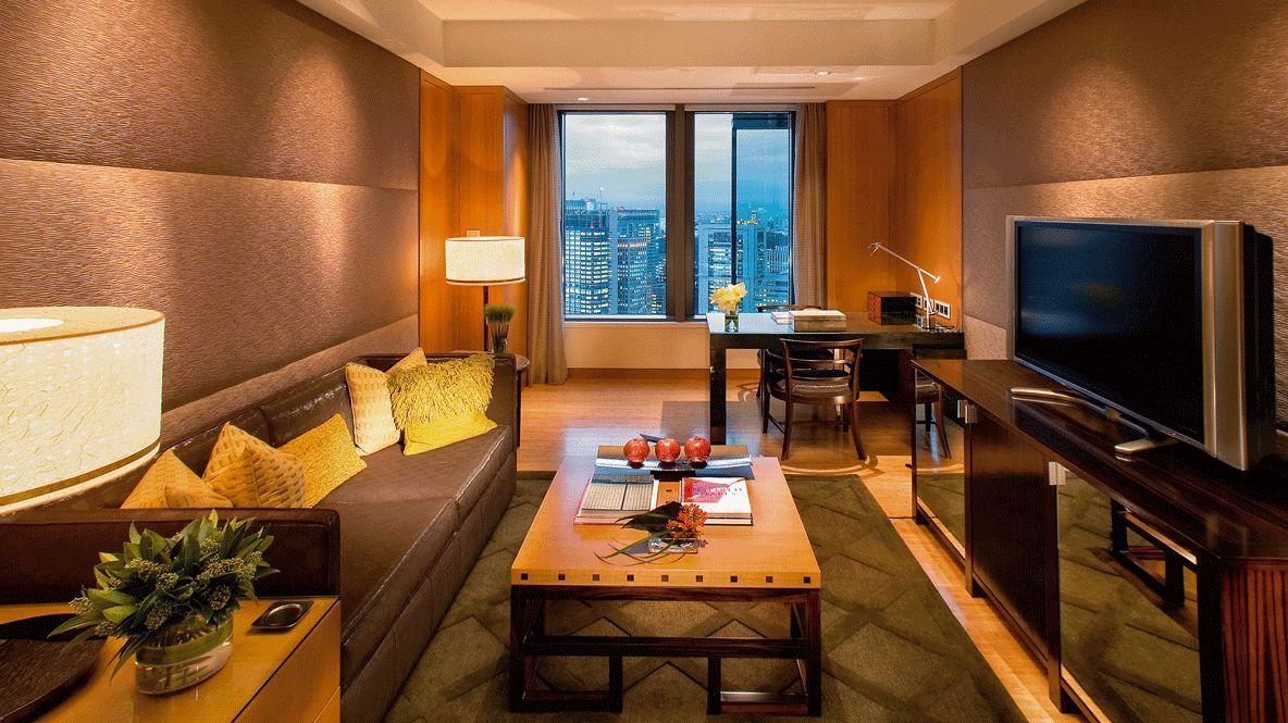 living room city view-mandarin oriental tokyo