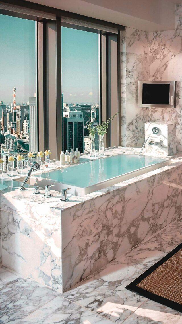 marble bathroom-mandarin oriental tokyo