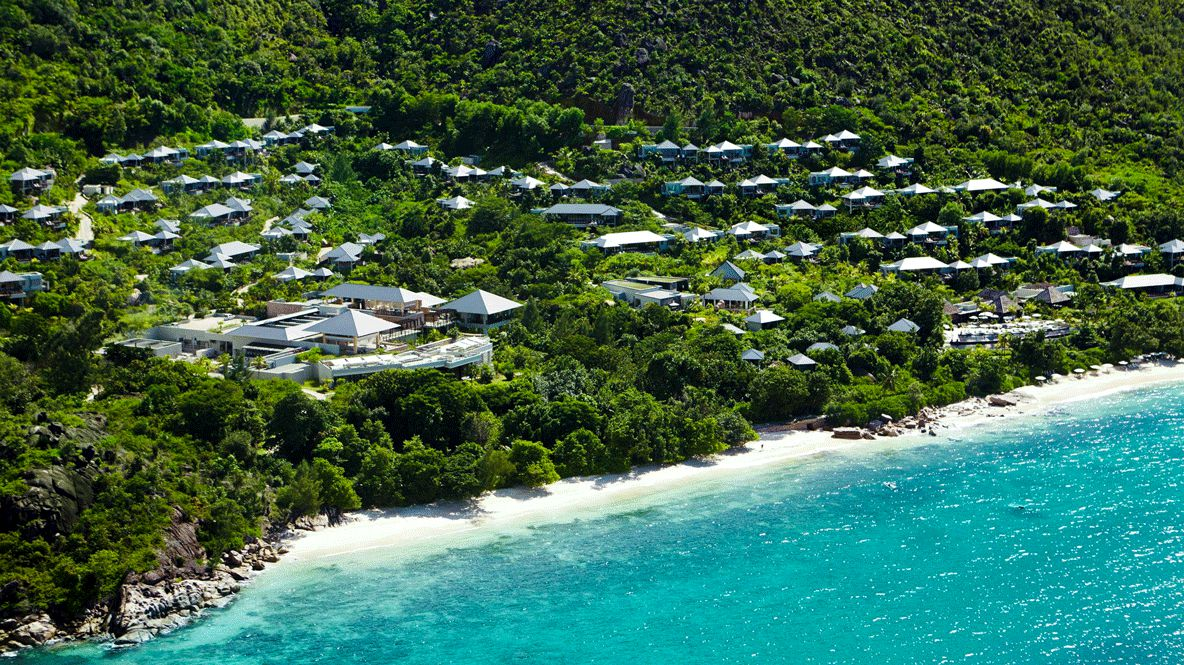 overview drone hotel-raffles seychelles
