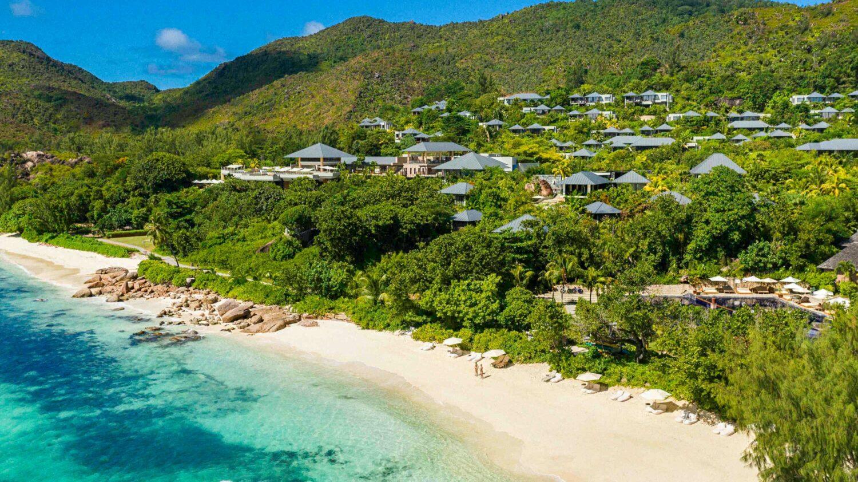 private beach hotel-raffles seychelles