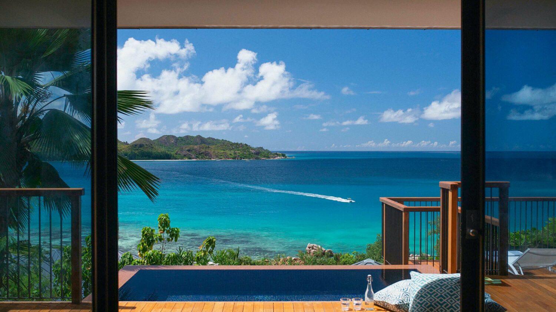 private infinity pool villa-raffles seychelles