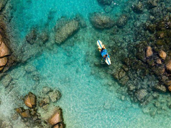 SUP-raffles seychelles