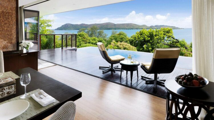 hotels in heaven raffles seychelles view ocean room terrace