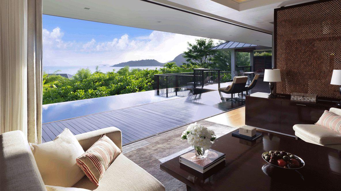 private villa infinity pool-raffles seychelles