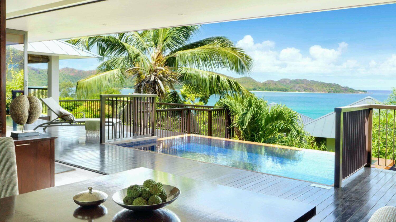 villa with infinity pool-raffles seychelles