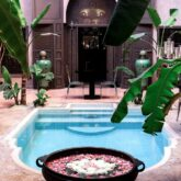 pool view backyard-riad noir d'ivoire marrakech