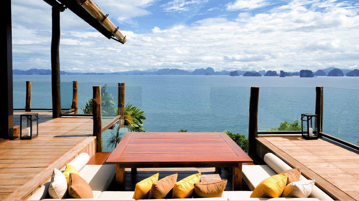 balcony ocean view-six senses yoa noi thailand