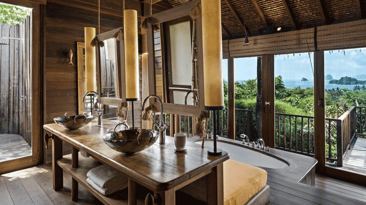 bathroom with a view-six senses yoa noi thailand