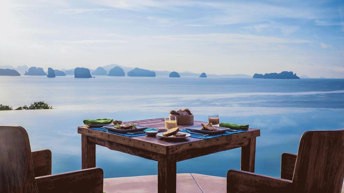 lunch view ocean-six senses yoa noi thailand