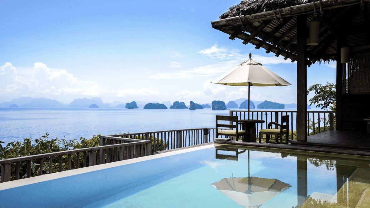 pool view ocean-six senses yoa noi thailand