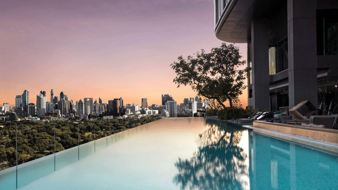 sunset view infinity pool-sofitel bangkok