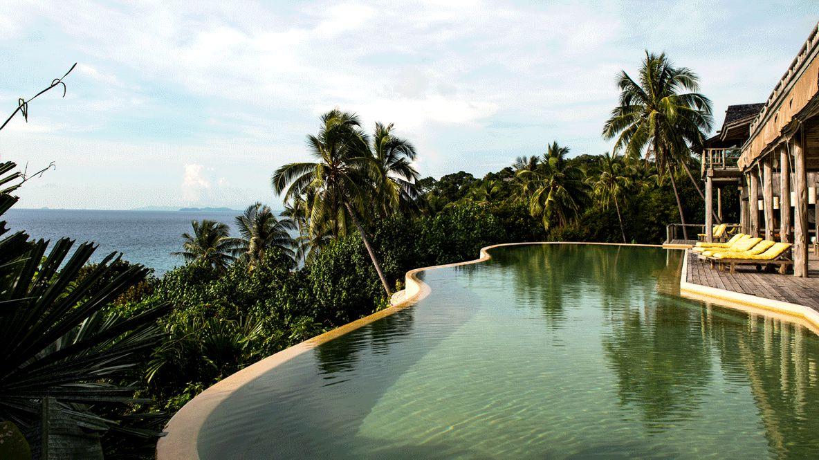 outdoor pool view-soneva kiri thailand