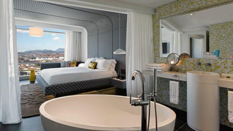 hotels in heaven w bogota room bathtub bedroom view bed beautiful luxury bath tub mirror towel curtains lamp sink modern